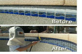 Welcome To Pool Tile Cleaning La Habra Pool Tile Calcium Removal La Habra Glass Bead Tile La